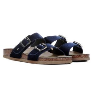 Madden Girl Navy Velvet Birkenstock sandals shoes